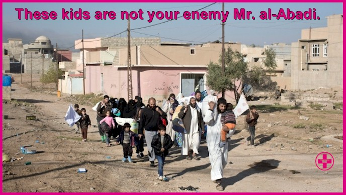 These children are not your enemy Mr. al-Abadi! Let them leave Mosul.