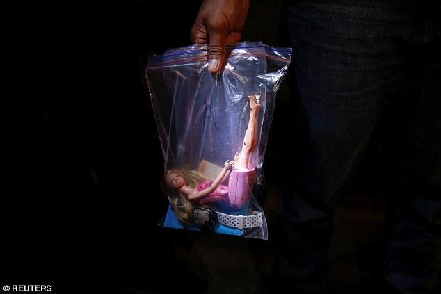 Rosana's Barbie doll in evidence bag