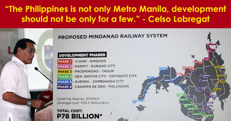 The Mindanao Rail System is needed say many