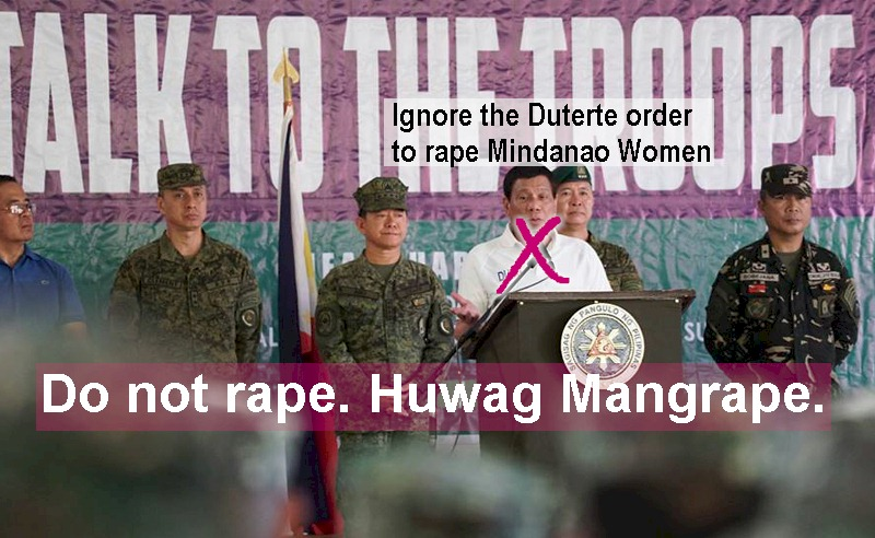 Rape Is No Joke, Duterte, Roque