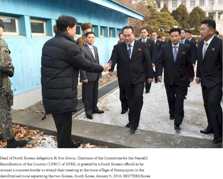 North and South Korea at incipient detente