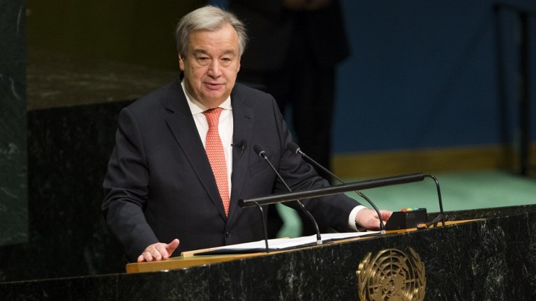 Antonio Guterres speaks out on failed Cease Fire in Syria with extra concern for Human Rights amd Refugee Migration in Afrin region.