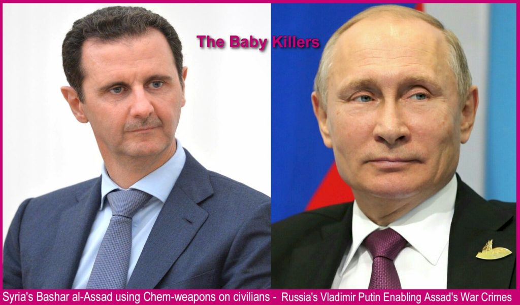 Putin and Assad must be held accountable for heinous war crimes.