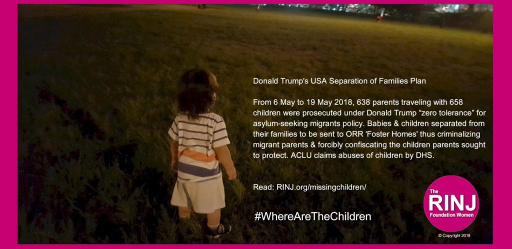 Trump Policy confiscates children from parents on immigration cases.
