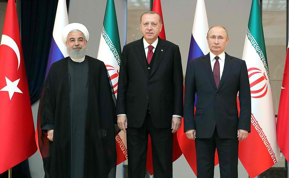 Hassan Rouhani, Recep Erdogan and Vladimir Putin - Three men who say they seek peace and appear to mean that. April 4, 2018