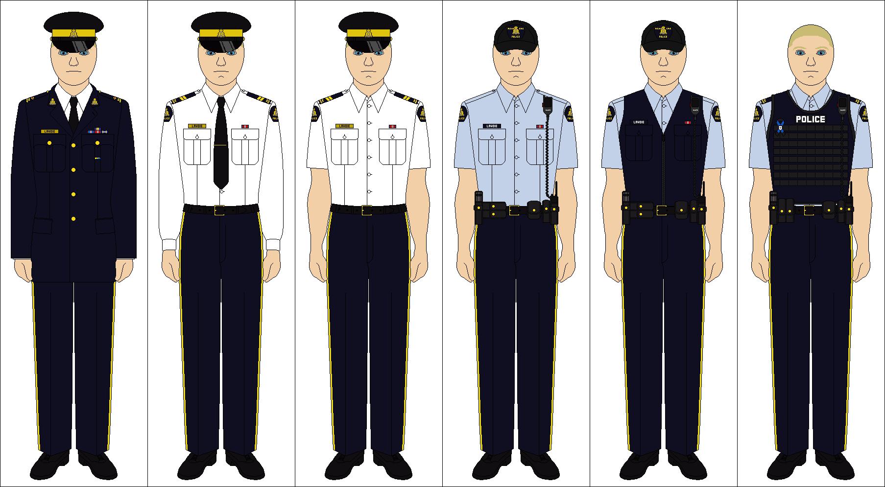 Canadian police uniform
