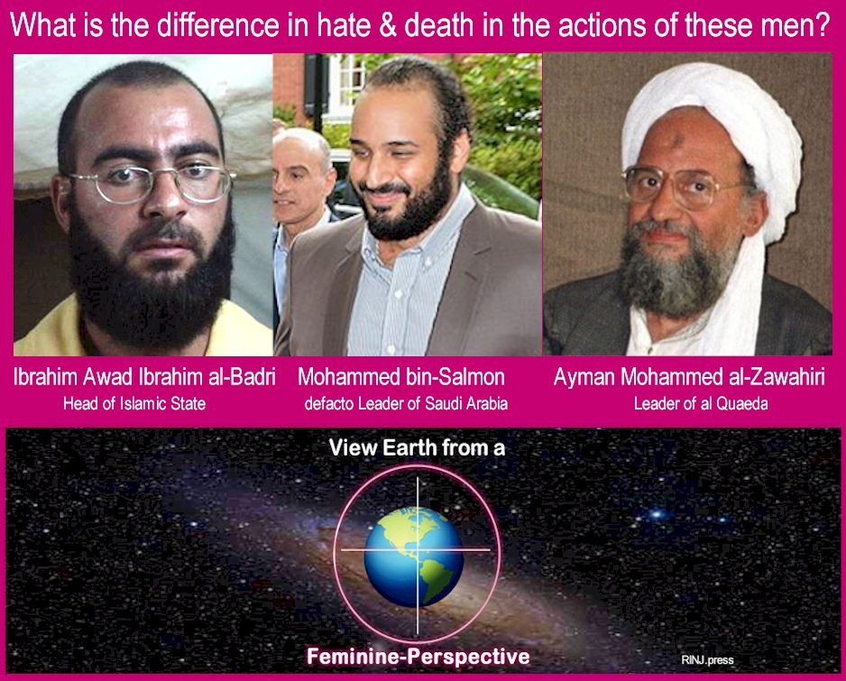 Feminine perspective. What is the difference in hate & death in the actions of these men?