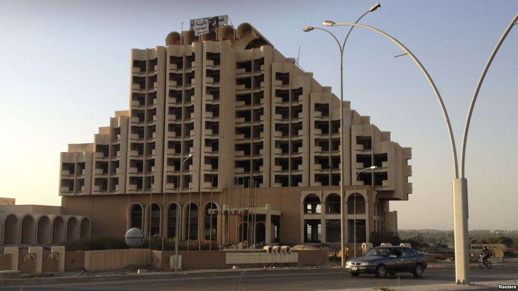ISIS Hotel on the Tigris was blown up in January 2017