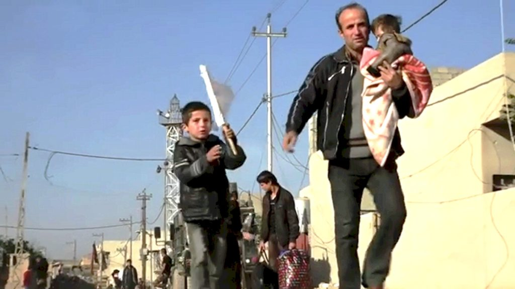 Civilians Flee Mosul in October 2016. Over 85,000 Moslawis were killed by ISIS including many Christians (Nazarians) Yezidis and Jews) and roughly 15,000 civilians slaughtered by Iraqis and allies bombing in 2015/2016 and later after October 2016 invading the city with air bombing strikes and random artillery fire.