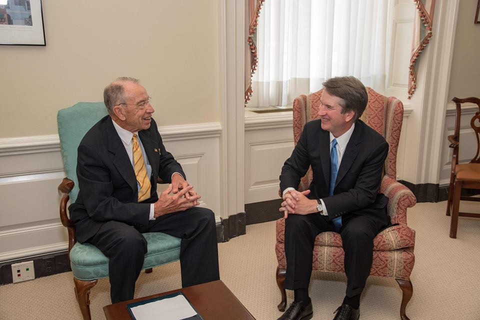 This week Senate Judiciary Committee Chairman Chuck Grassley met with President Donald Trump's Supreme Court nominee Judge Brett Kavanaugh. #SCOTUS