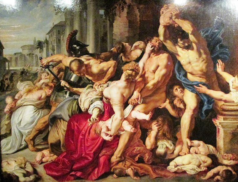 "Peter Paul Rubens painting, ""Massacre of the Innocents"" photographed in 2015 at the Art Gallery of Ontario. Photo credit: Micheal John, Feminine Perspective"