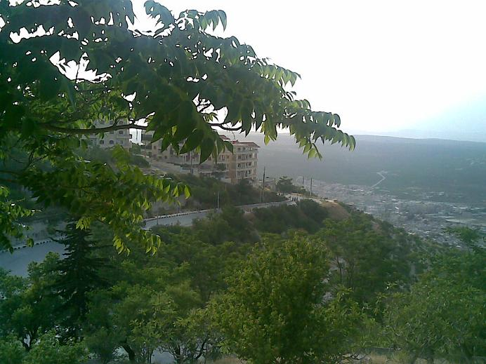 Looking North East to the city of Idlib in the Idlib Governorate