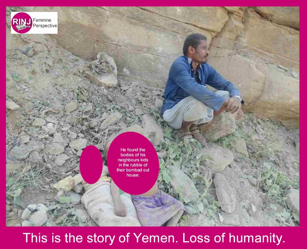 The loss of humanity in Yemen.