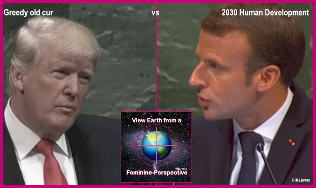 Macron vs Trump at the UN General Assembly, September 2018 - Euro News