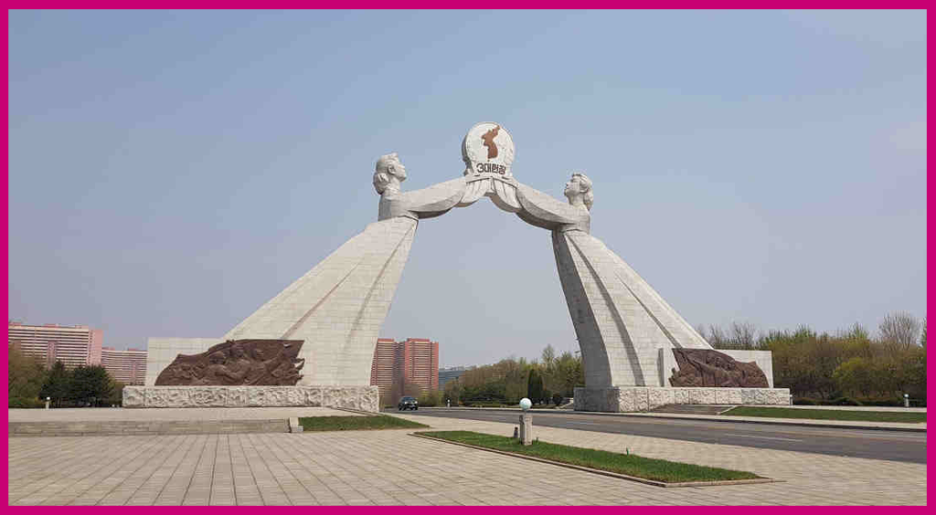 "The southern ""gate"" from Pyongyang, North Korea Photo Credit: KCNA"