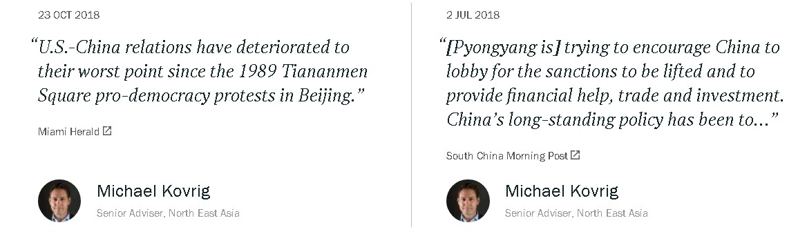 Michael Kovrig has been in CHina's sights for some time.