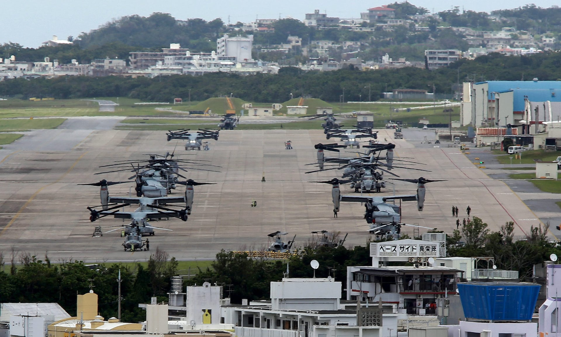 Okinawa base ready for war with North Korea which is one of the reasons Pyongyang said it needed to develop nuclear weapons. Photo Credit: Hitoshi Maeshiro/EPA