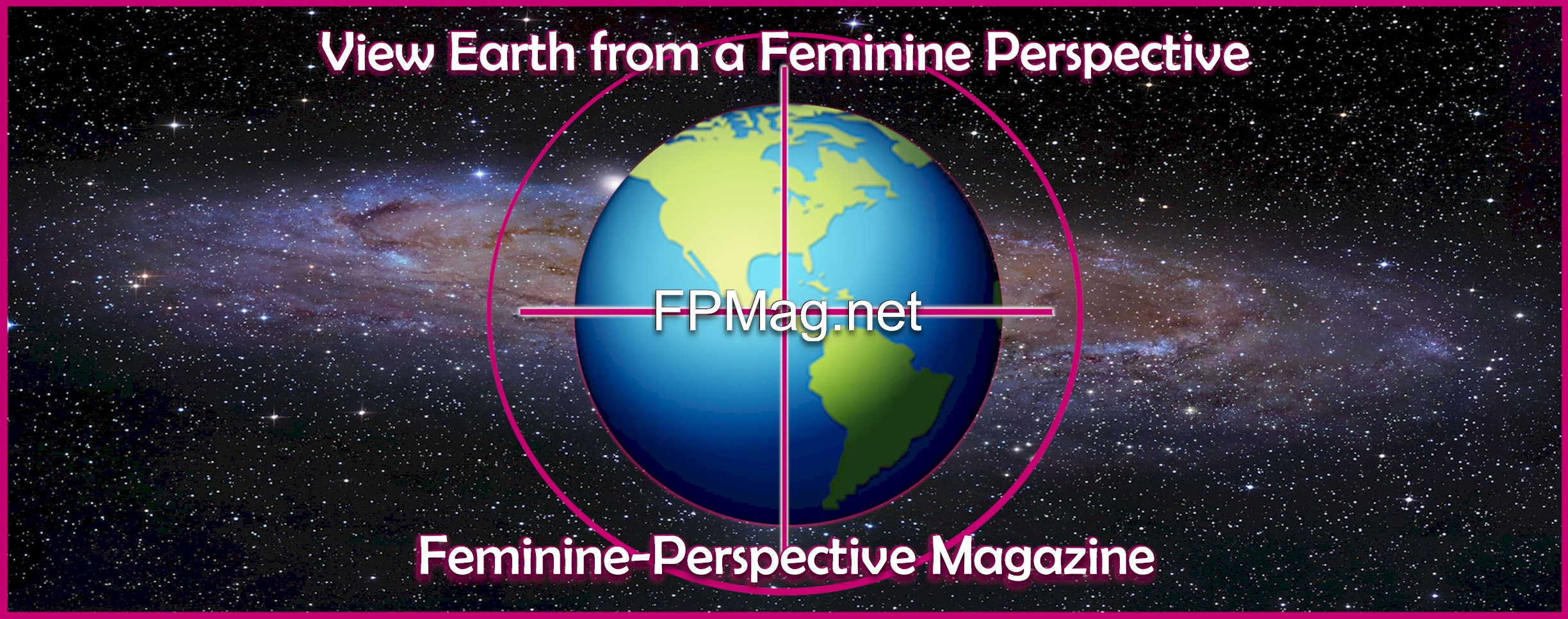 "FPMag.net - Feminine-Perspective Magazine - Photo Art: by Rosa Yamamoto - ""It's the Milky Way,"" she says. Our Galaxy and our Earth. Let's take them back from the patriarch."