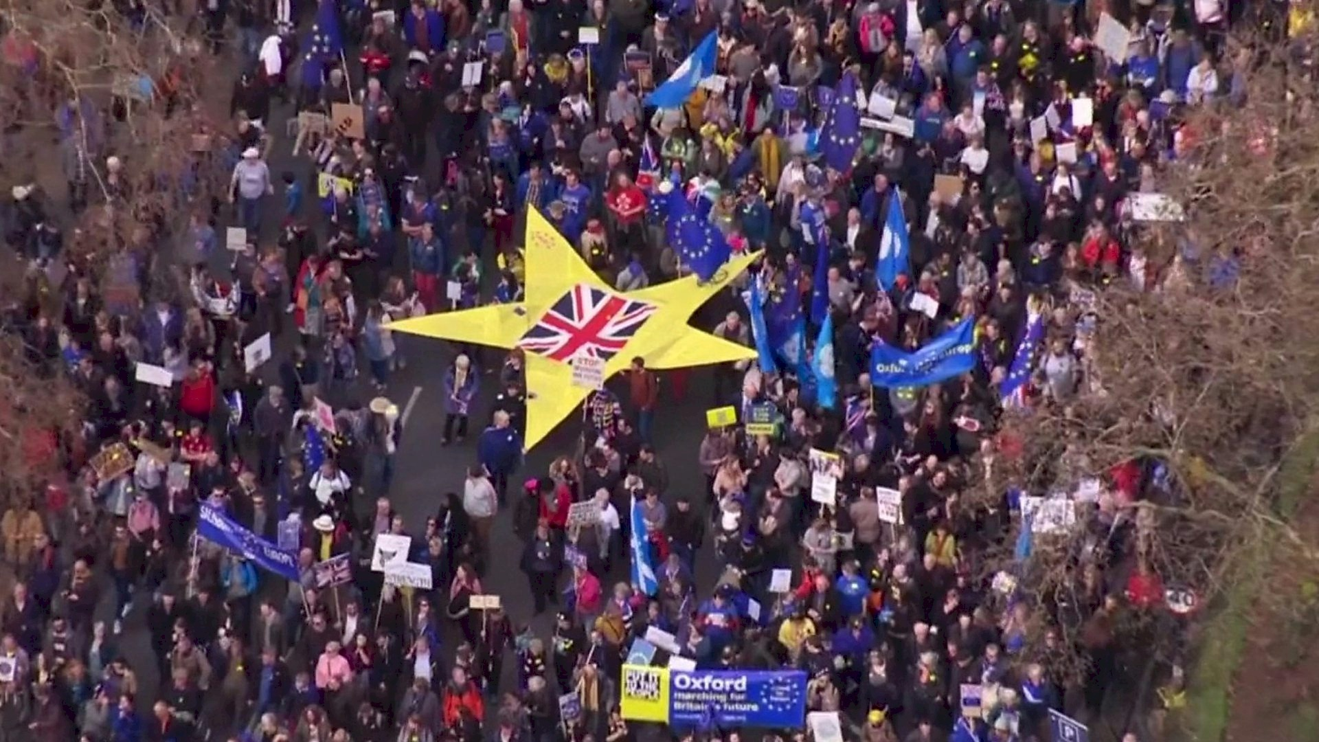 Brexit second vote demanded by 4 million on petition and uncounted tens of thousands as numbers in the streets grow.