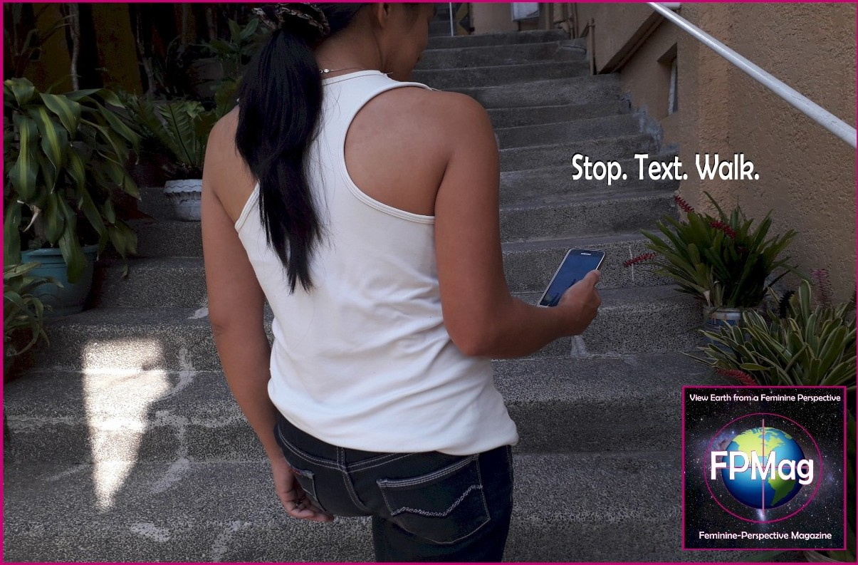 Stop. Text. Walk. Photo Credit: Melissa Hemingway