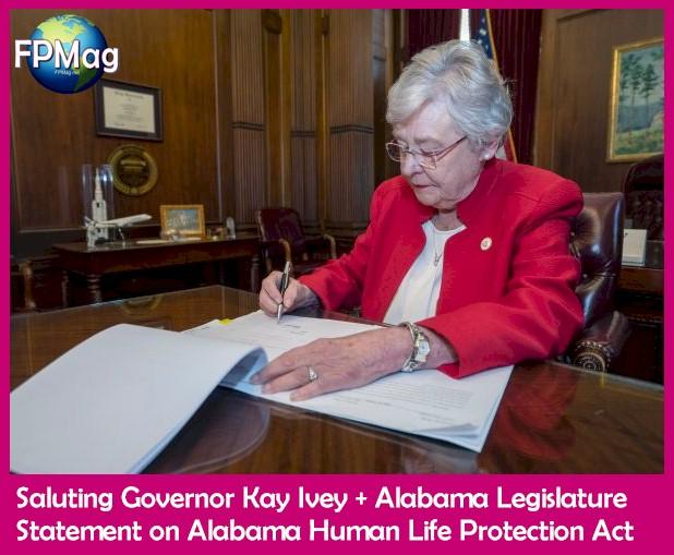 Governor Kay Ivey + Alabama Legislature Statement on Alabama Human Life Protection Act - Governor's Office Photograph