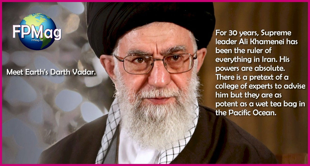 For 30 years, Supreme leader Ali Khamenei has been the ruler of everything in Iran. His powers are absolute. There is a pretext of a college of experts to advise him but they are as potent as a wet tea bag in the Pacific Ocean.