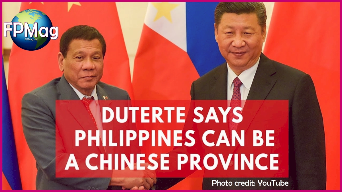 Duterte says Philippines Province of China