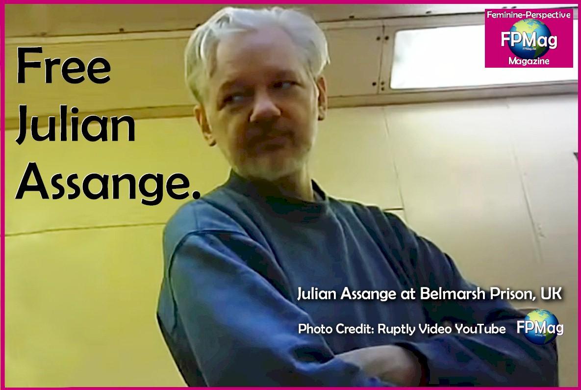 Free Julian Assange Feminine-Perspective Magazine