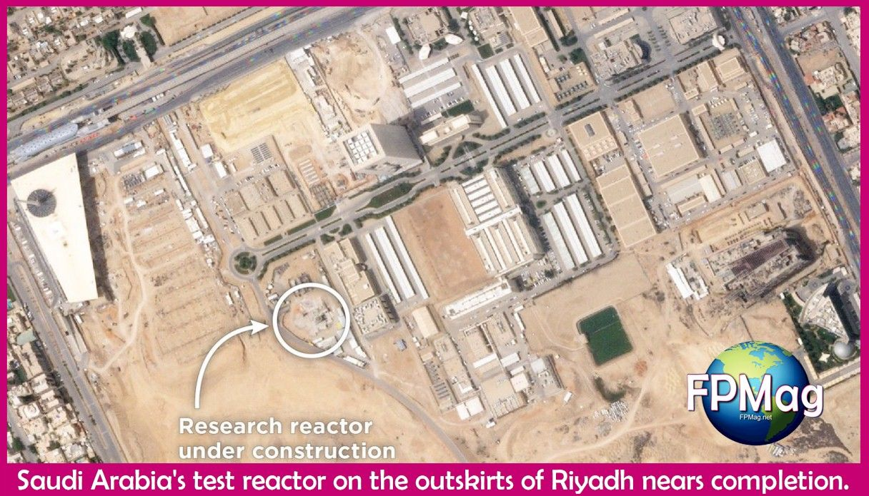Saudi Arabia's test reactor on the outskirts of Riyadh nears completion.