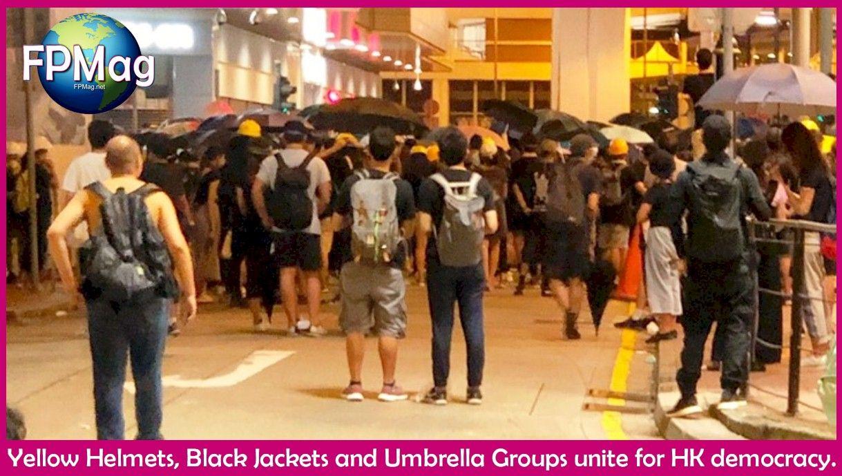 Yellow Helmets, Black Jackets and Umbrella Groups unite for HK democracy.