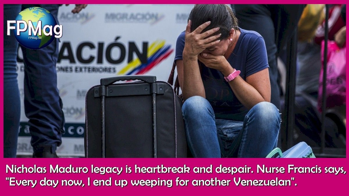 "Nicholas Maduro legacy is heartbreak and despair. Nurse Francis says, ""Every day now, I end up weeping for another Venezuelan"". Photo Credit: UNHCR/Vincent Tremeau"