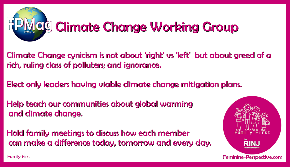 FPMag Working Group on Climate change. A four point charter.