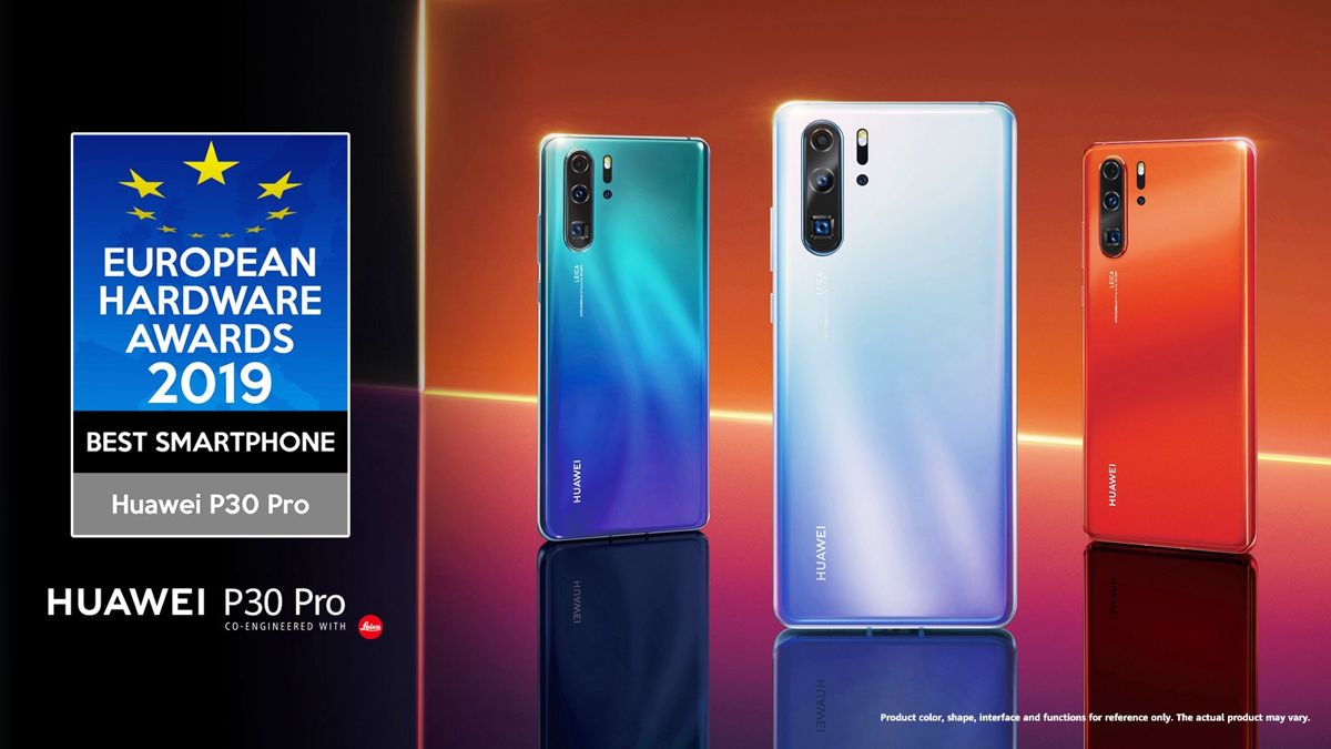 HUAWEI's P30 Pro has been announced as the best smartphone of 2019 by the European Hardware Association. The handset secured top spot in the Best Smartphone category at the EHA Awards 2019.