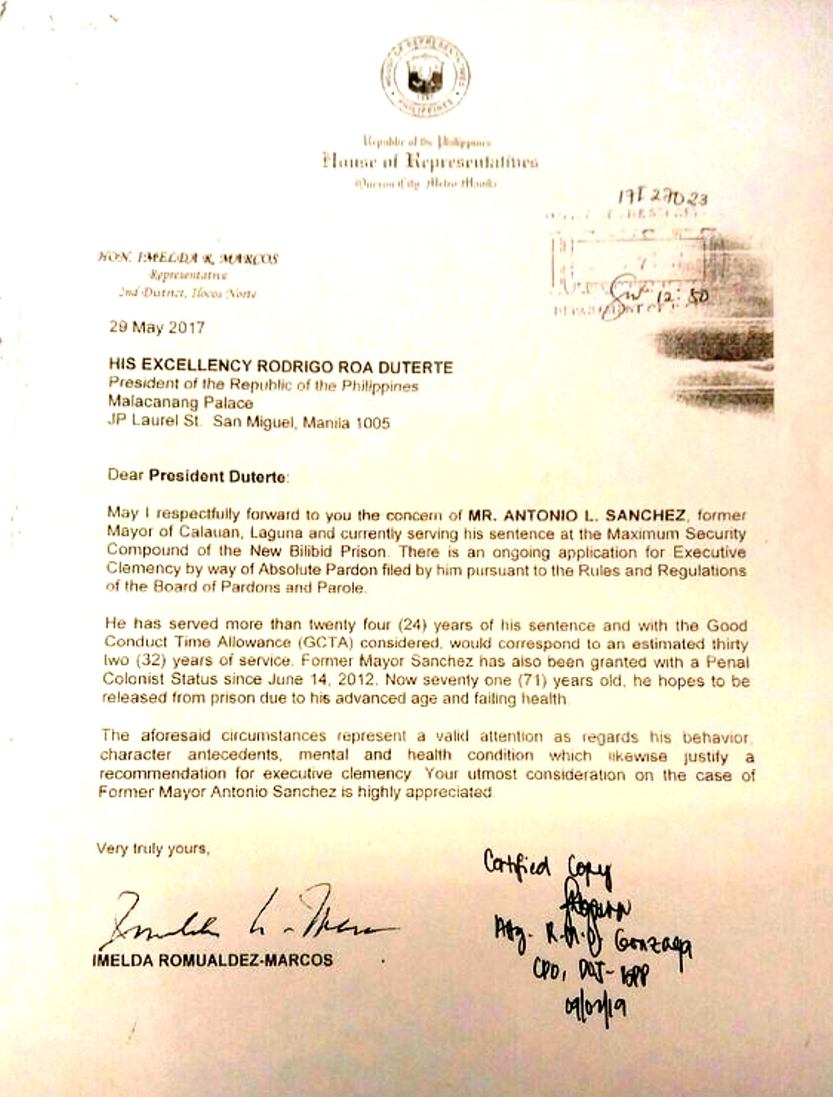 Marcos Letter