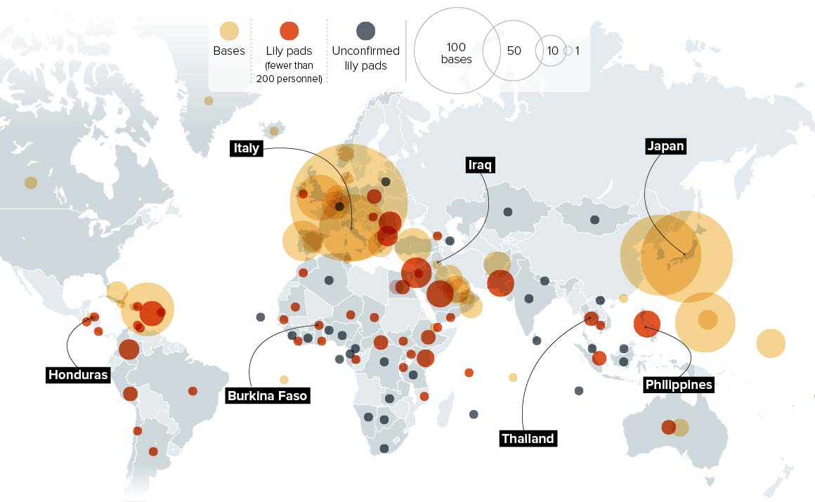 Here is a general idea of where US Military Operations spending that Trillion dollars are located.