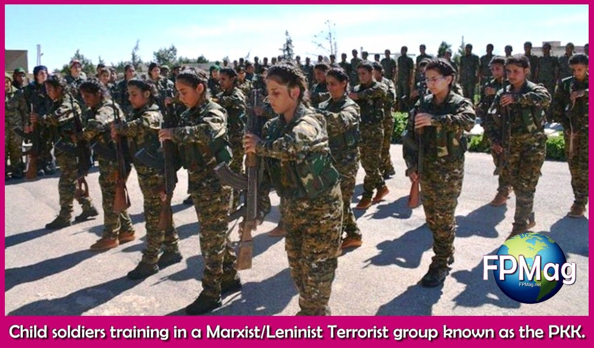 Child soldiers training in a Marxist/Leninist Terrorist group known as the PKK.