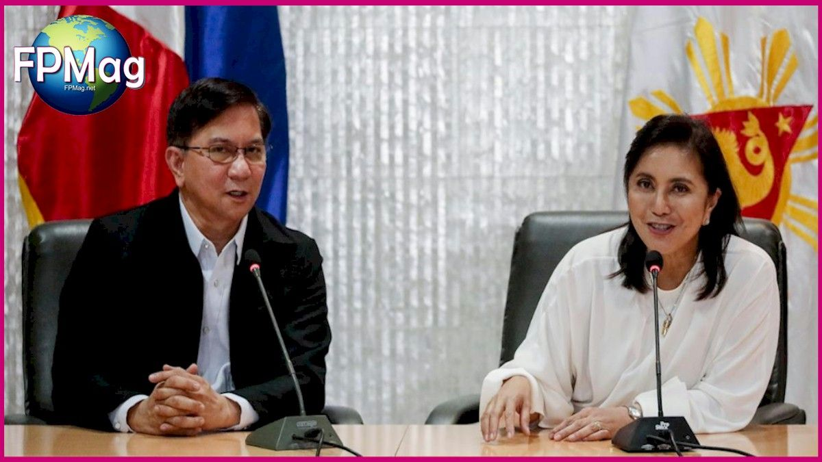 FPMag- Duterte attacks on VP getting scary. Philippine Drug Enforcement Agency Director General Aaron Aquino and Philippines Vice President Maria Leonor Robredo answers questions from the media after a closed-door meeting in Quezon City, Metro Manila, Philippines, November 8, 2019.