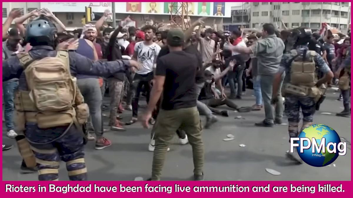 Live fire by Iraqi security forces has been killing protestors.