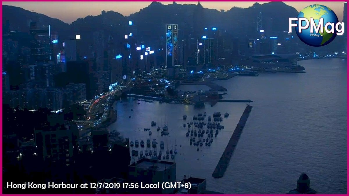 Hong Kong Harbour at 12/7/2019 17:56 Local (GMT+8)