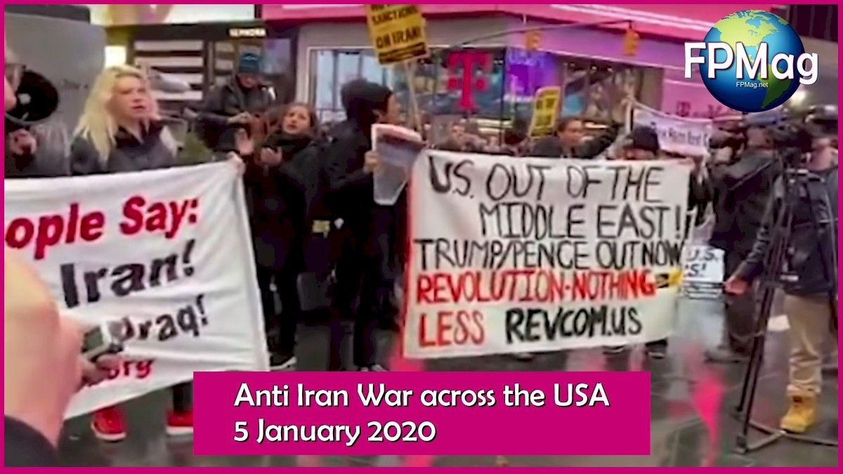 Protests around the world are growing. In the coming weekend the world is expected to be in total revolt against the United States which has murdered a dozen officials in Iraq.