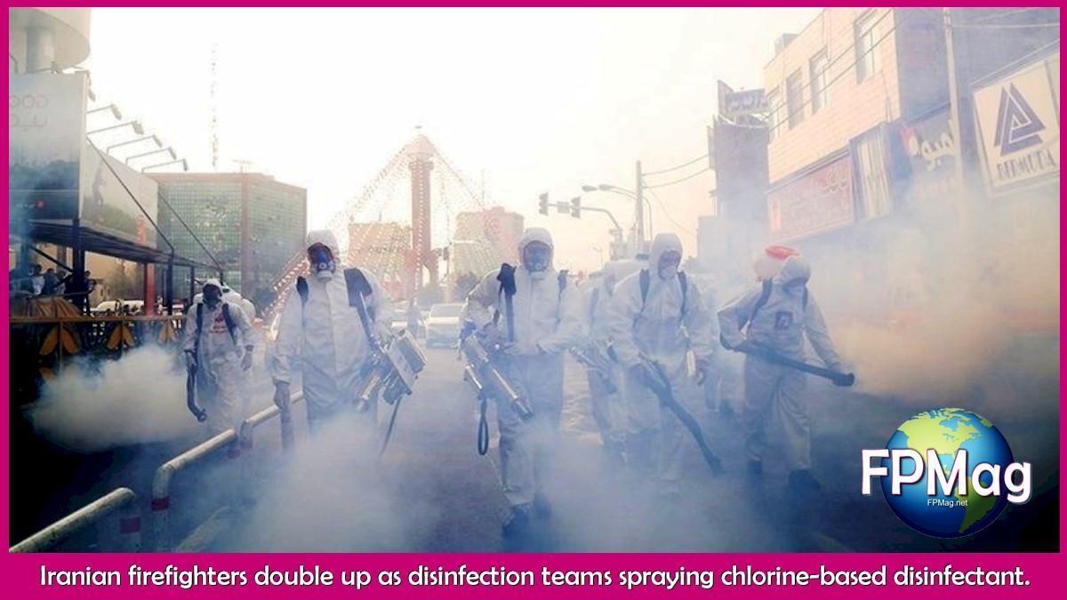 Disinfection of Sadeghiyeh, Tehran Tasnim News Agency
