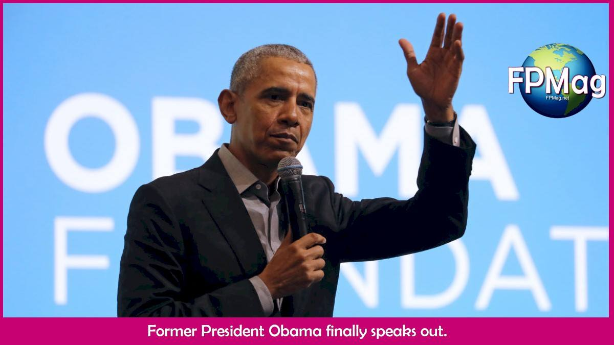 Obama speaks out against Trump