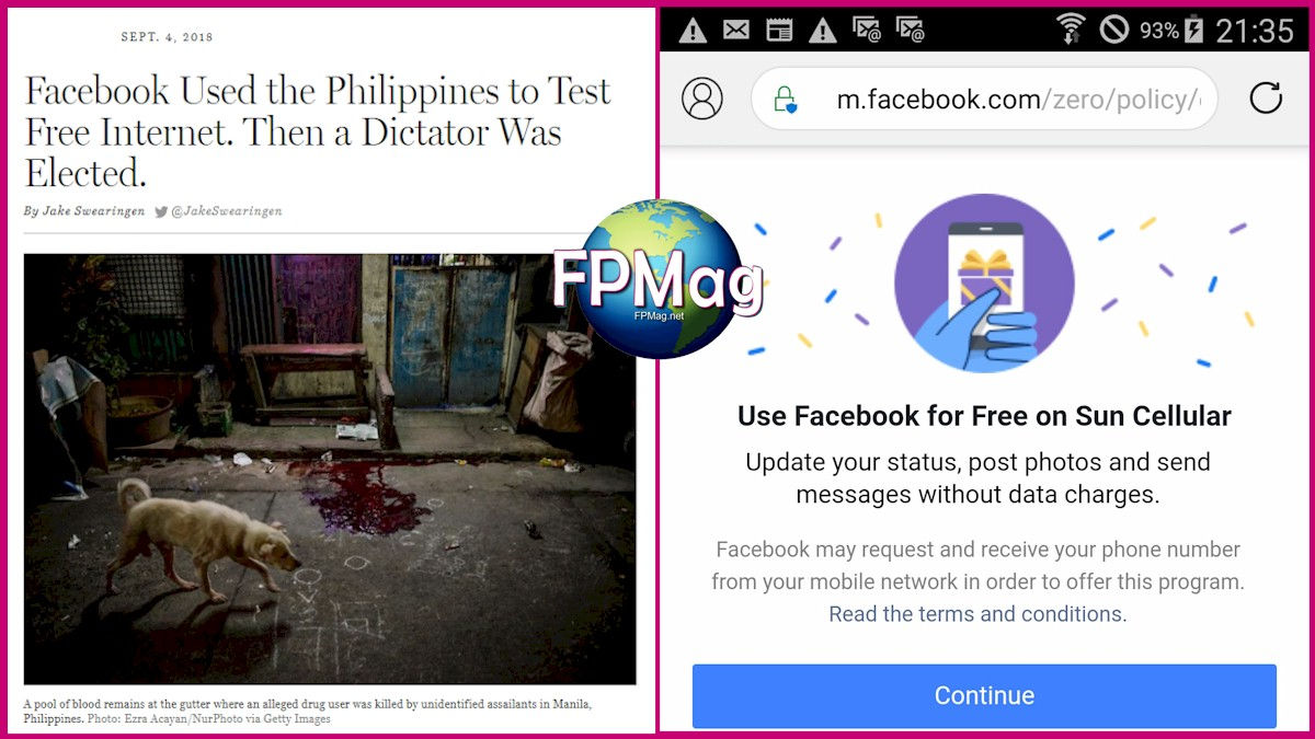 Facebook provided Free Internet in the Philippines. Then a dictator was elected. Facebook laughed all the way to the bank.